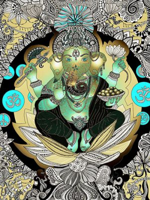 Ganesha in Gold
