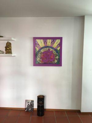 Spezialanfertigung des Bildes 'Dunja' mit dem Namasté-Symbol