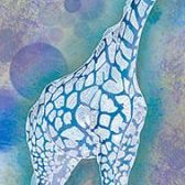 Blaue Giraffe