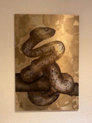 Serpente auf Aluminium