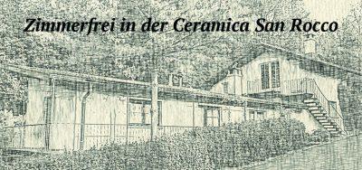 Vorderseite der Visitenkarte des BnB Ceramica San Rocco in Ascona
